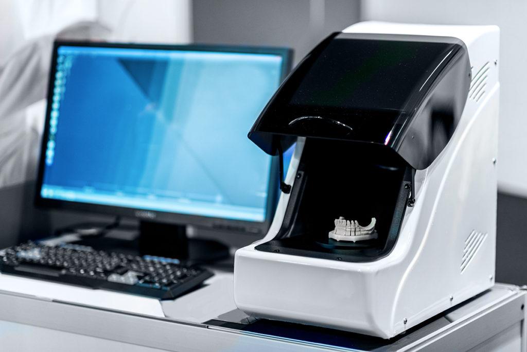 Cad cam scanner, clínica dental